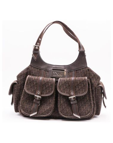 light-brown-cloth-christian-dior-diorissimo-handbags
